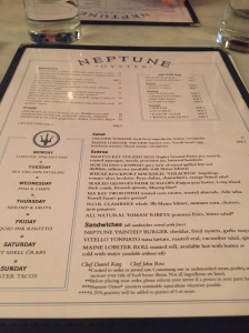 They take their seafood seriously at Neptune Oyster