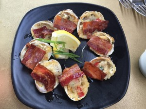 Clams with bacon. Yes, please.