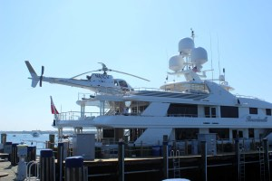 Yes, that's a helicopter on a yacht