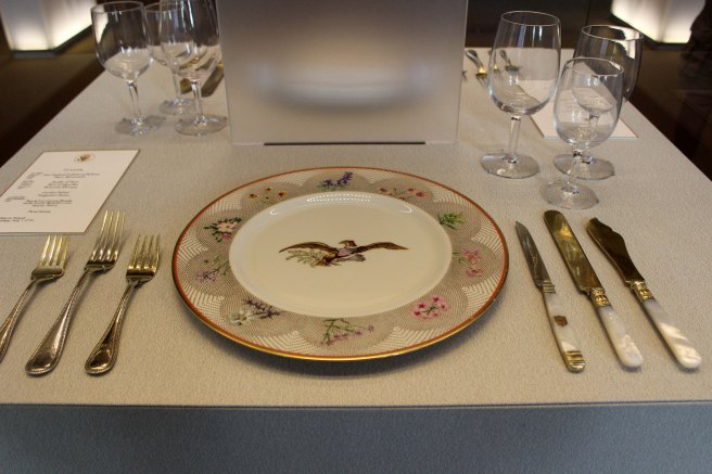 Place setting for a dinner with Queen Elizabeth